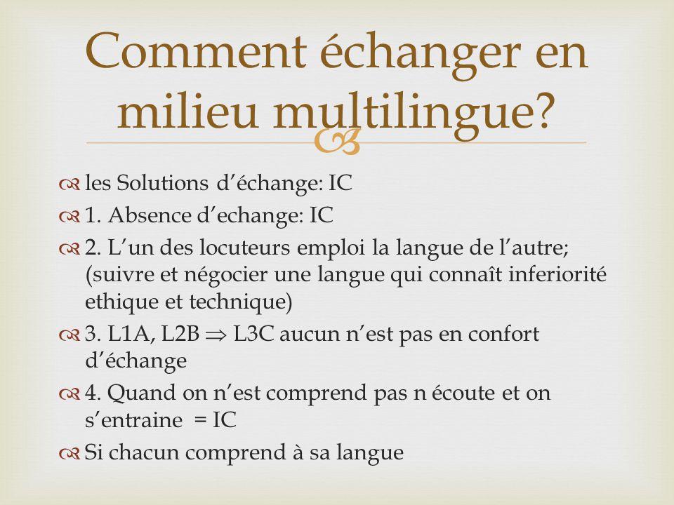 Comment échanger en milieu multilingue