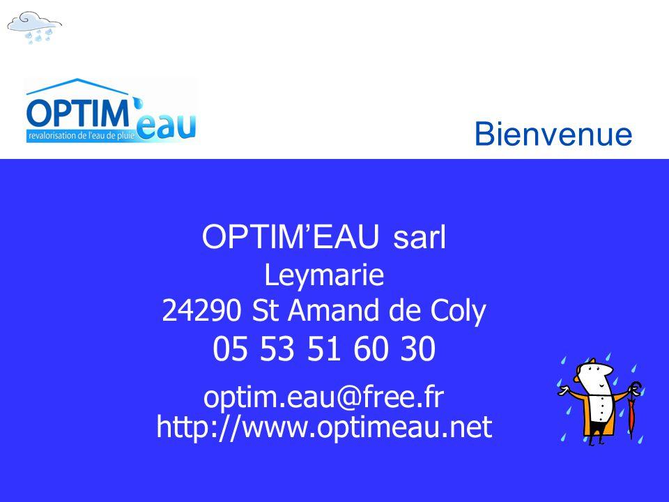 Bienvenue OPTIM'EAU sarl 05 53 51 60 30 Leymarie