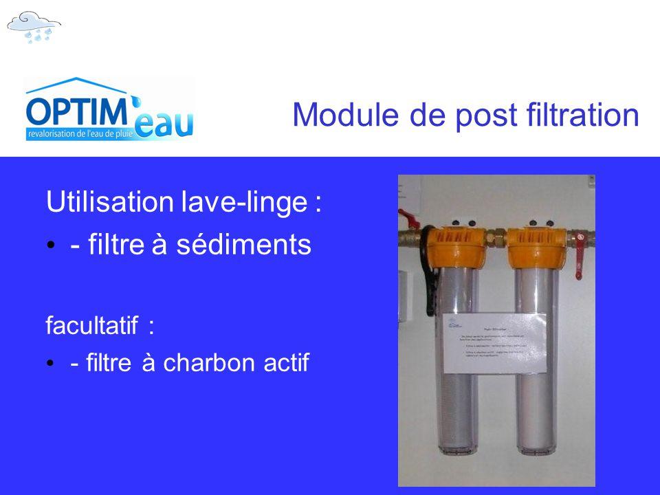 Module de post filtration