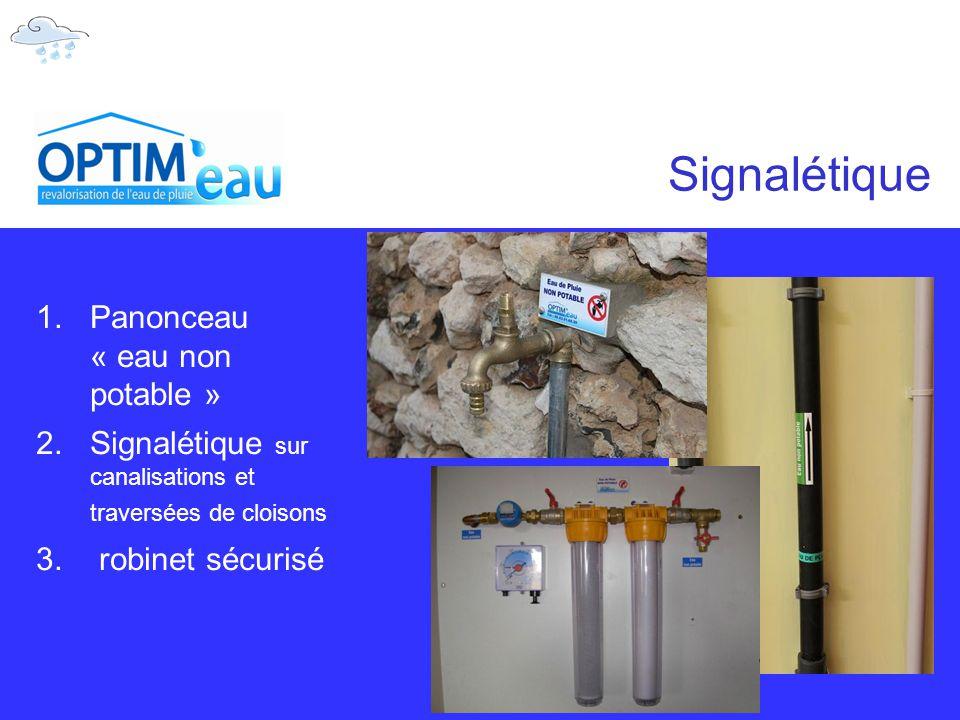 Signalétique Panonceau « eau non potable »