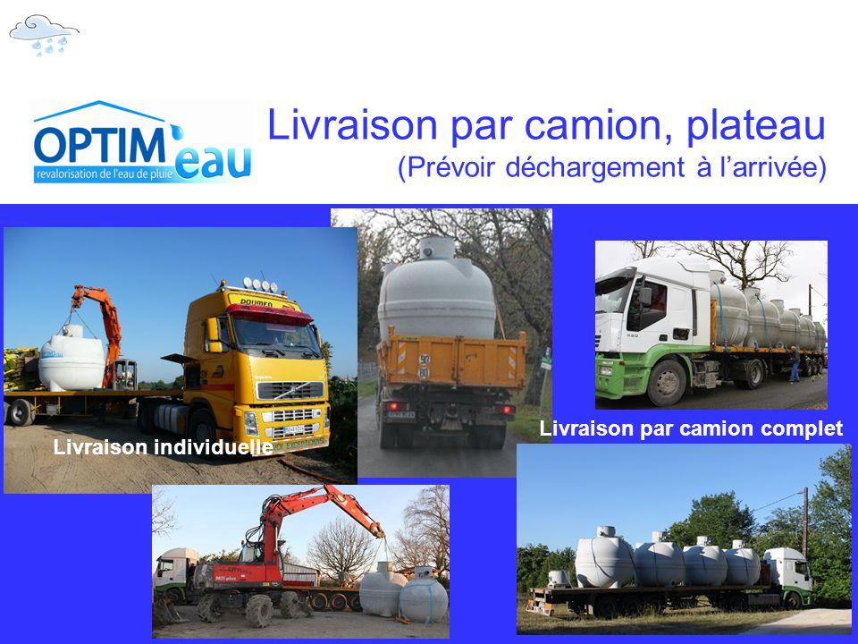 Livraison par camion, plateau