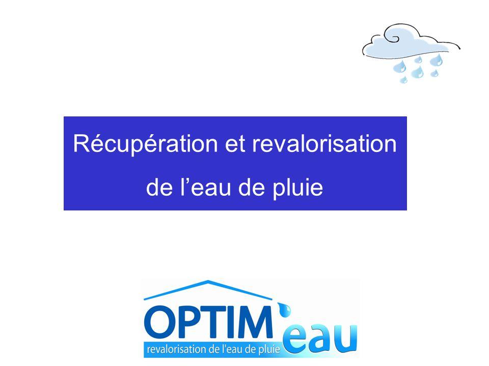 Récupération et revalorisation de l'eau de pluie