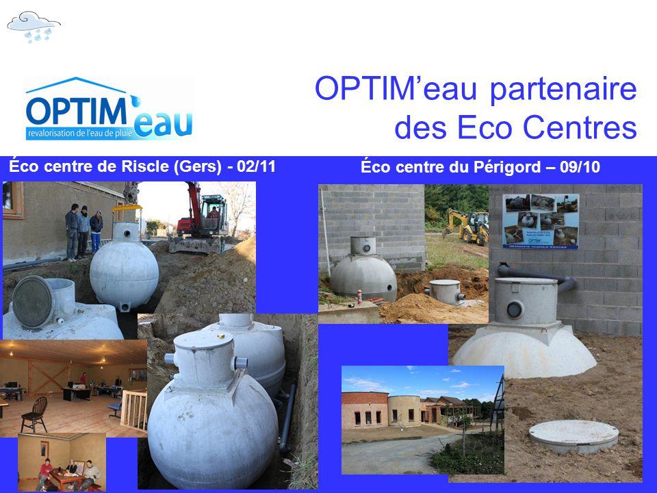 OPTIM'eau partenaire des Eco Centres