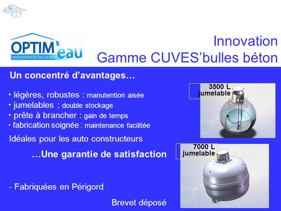 Innovation Gamme CUVES'bulles béton
