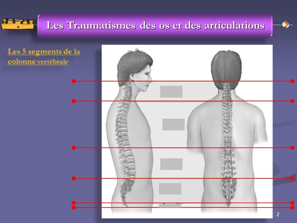 Les Traumatismes des os et des articulations