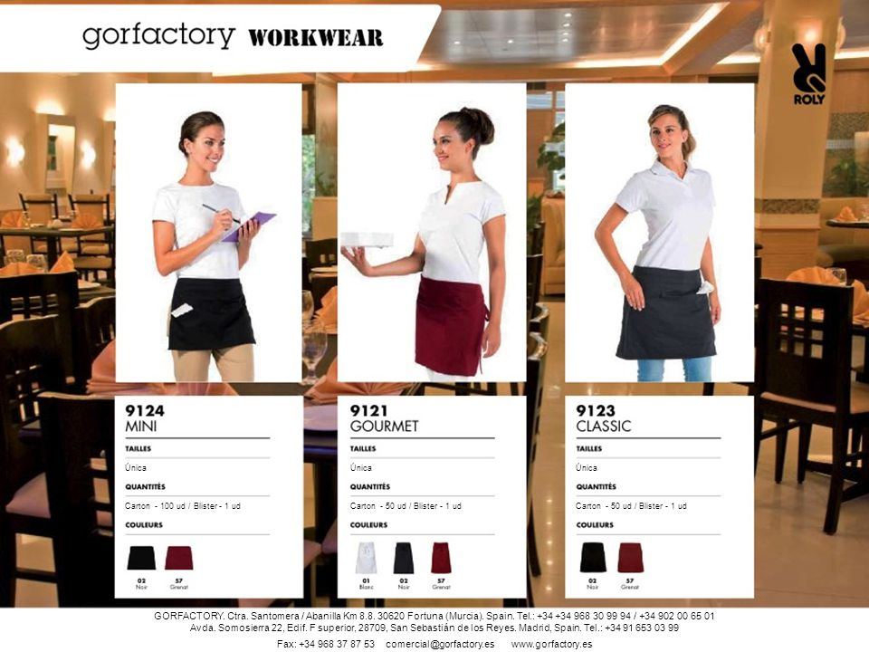 Fax: +34 968 37 87 53 comercial@gorfactory.es www.gorfactory.es