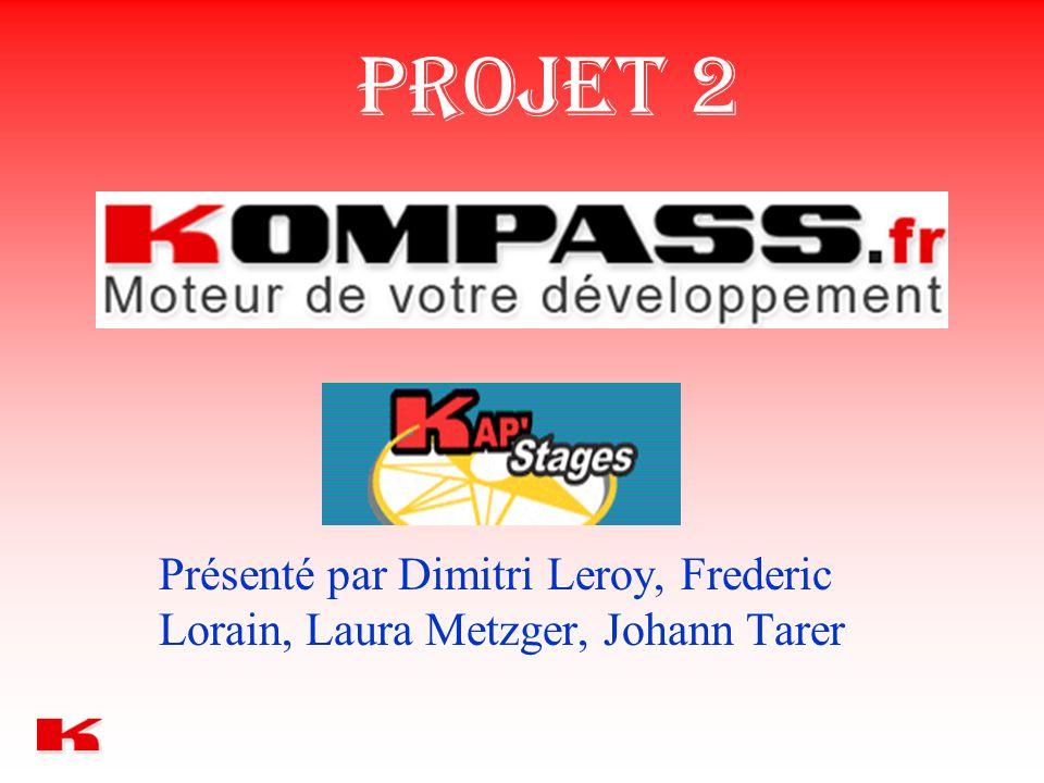 PROJET 2 Présenté par Dimitri Leroy, Frederic Lorain, Laura Metzger, Johann Tarer