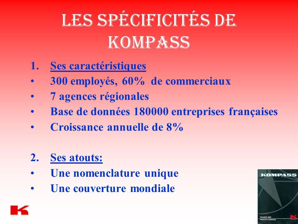 Les spécificités de Kompass