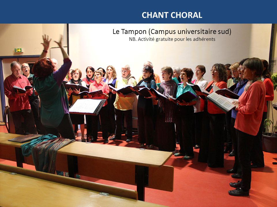 CHANT CHORAL Le Tampon (Campus universitaire sud)