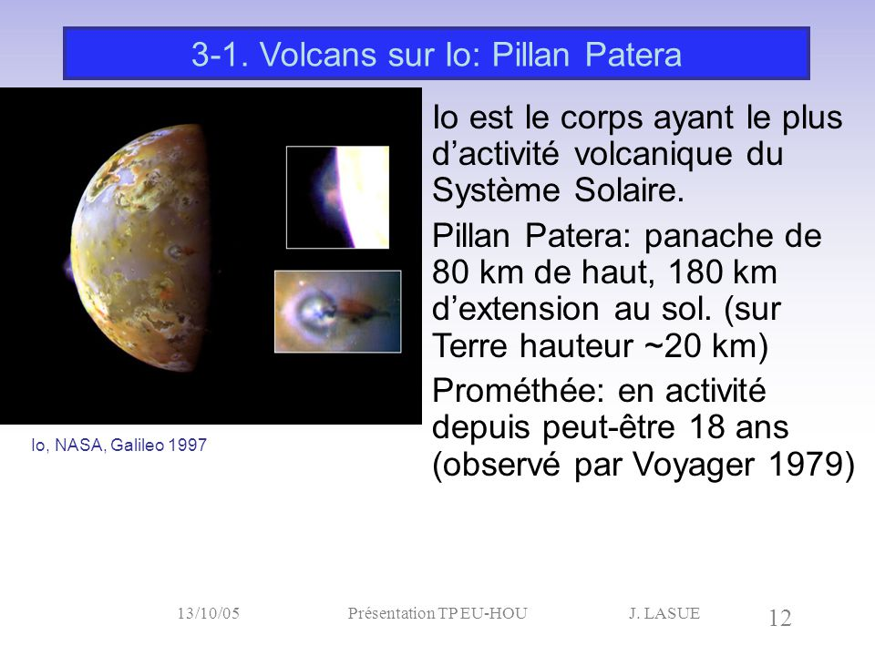 3-1. Volcans sur Io: Pillan Patera