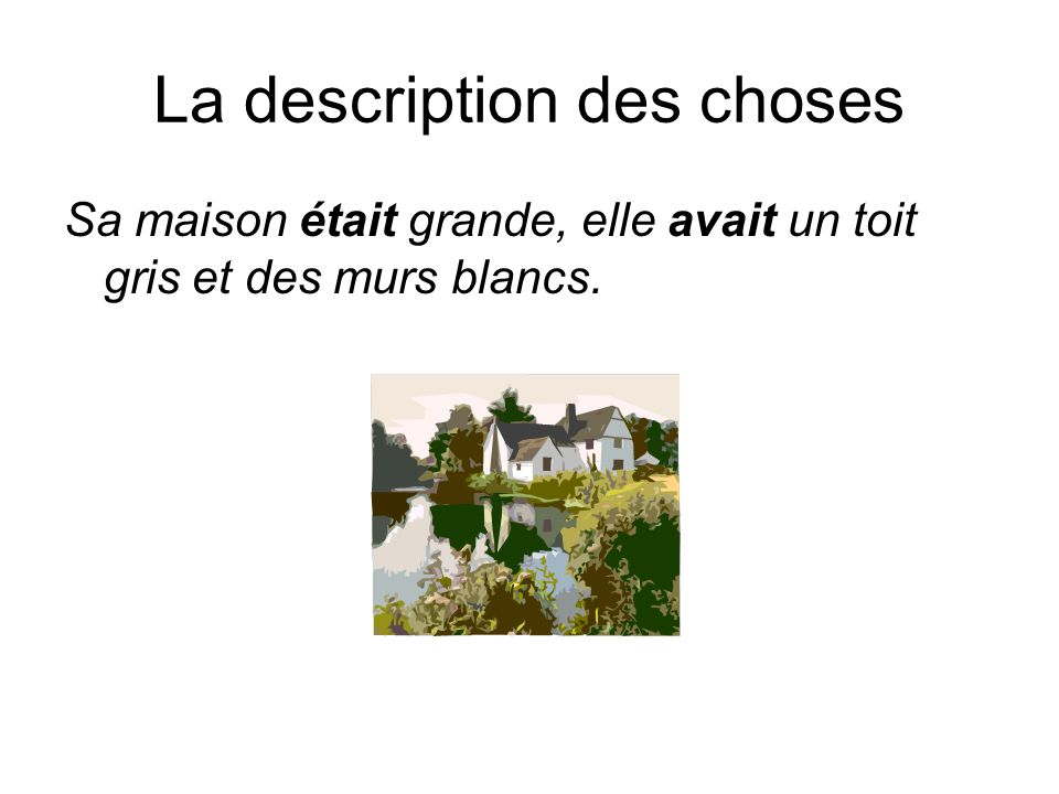 La description des choses