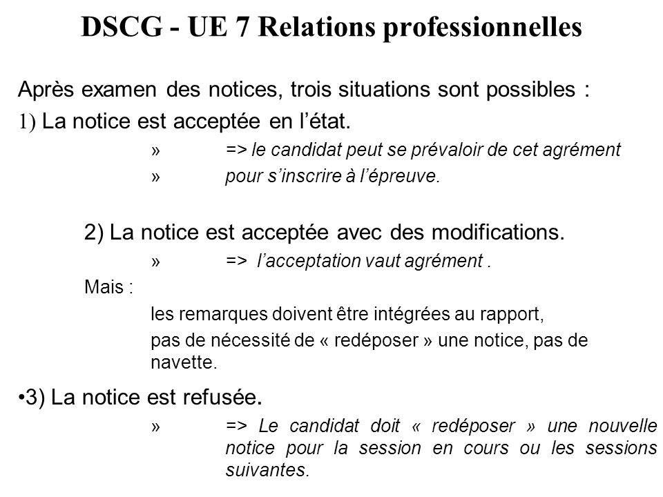 DSCG - UE 7 Relations professionnelles