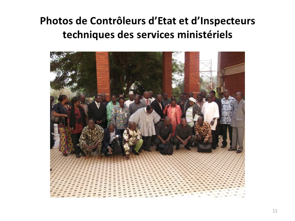 Photos de Contrôleurs d'Etat et d'Inspecteurs techniques des services ministériels