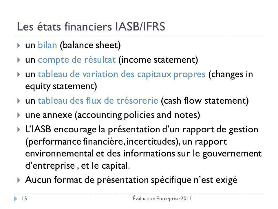 Les états financiers IASB/IFRS