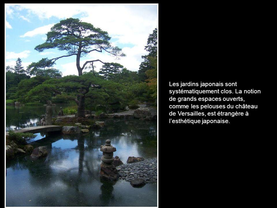 Les jardins japonais sont systématiquement clos