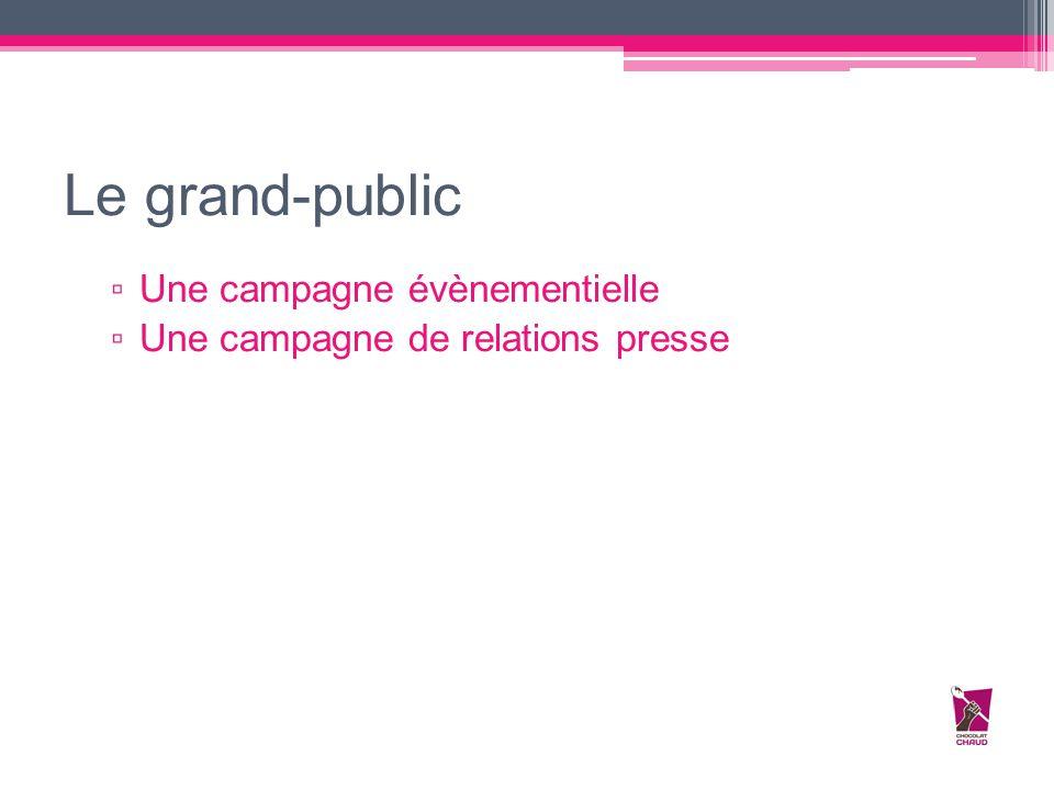 Le grand-public Une campagne évènementielle