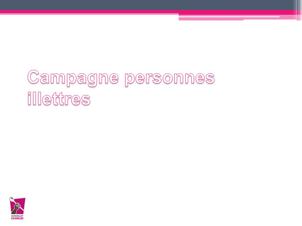 Campagne personnes illettres