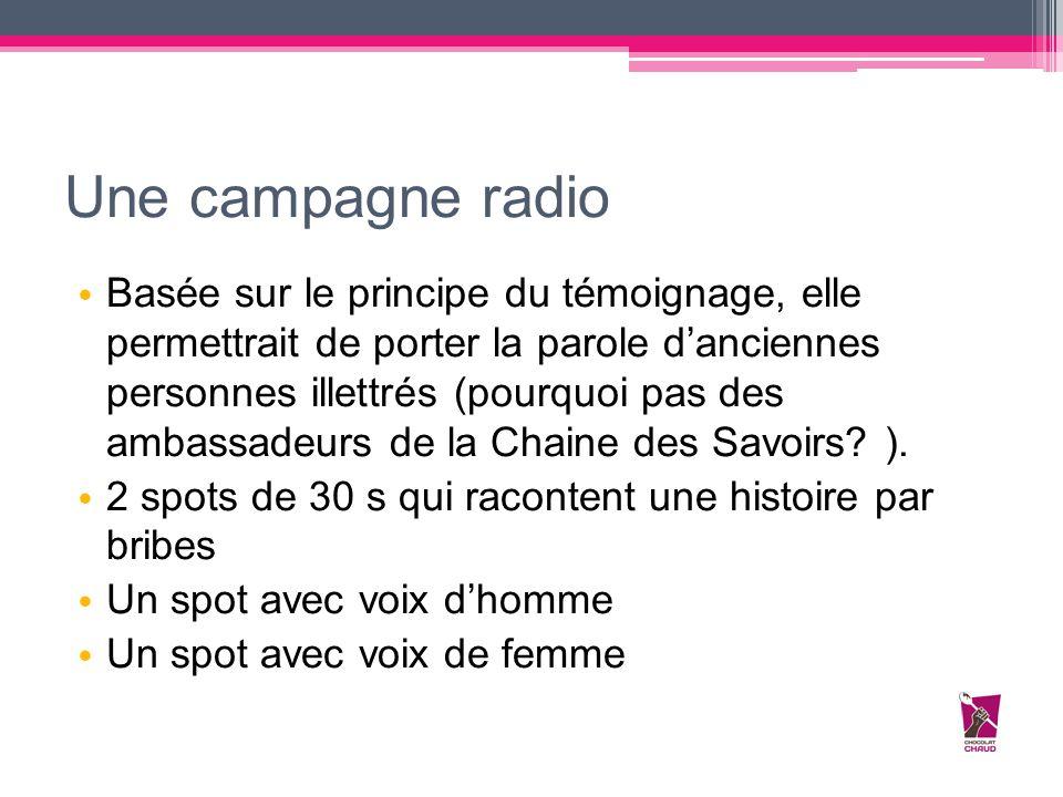 Une campagne radio