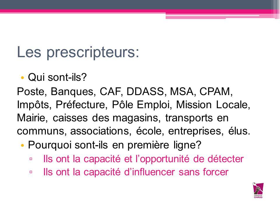 Les prescripteurs: Qui sont-ils