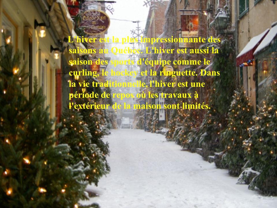 L hiver est la plus impressionnante des saisons au Québec