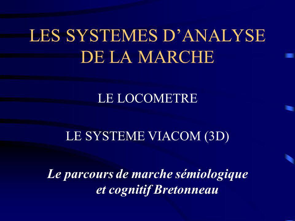 LES SYSTEMES D'ANALYSE DE LA MARCHE