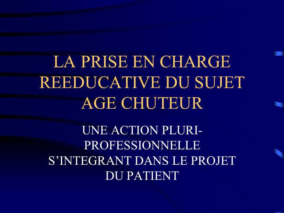 LA PRISE EN CHARGE REEDUCATIVE DU SUJET AGE CHUTEUR