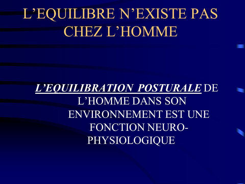 L'EQUILIBRE N'EXISTE PAS CHEZ L'HOMME
