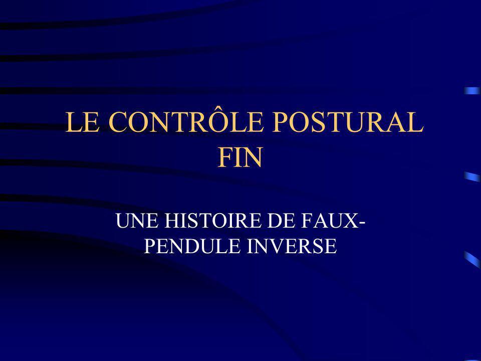LE CONTRÔLE POSTURAL FIN