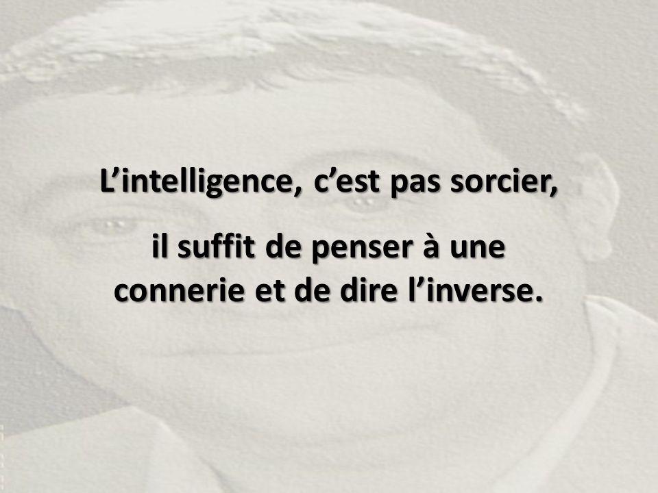 L'intelligence, c'est pas sorcier,