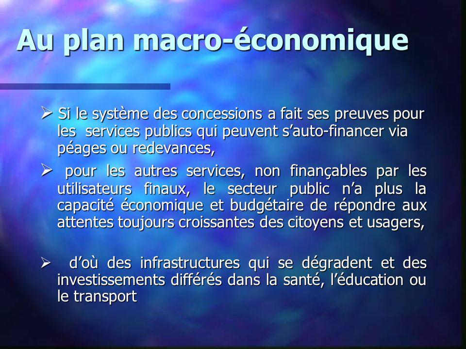 Au plan macro-économique