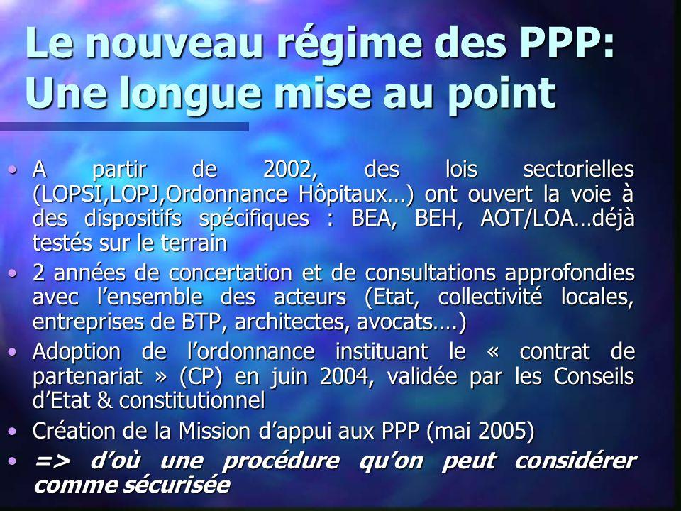 Le nouveau régime des PPP: Une longue mise au point