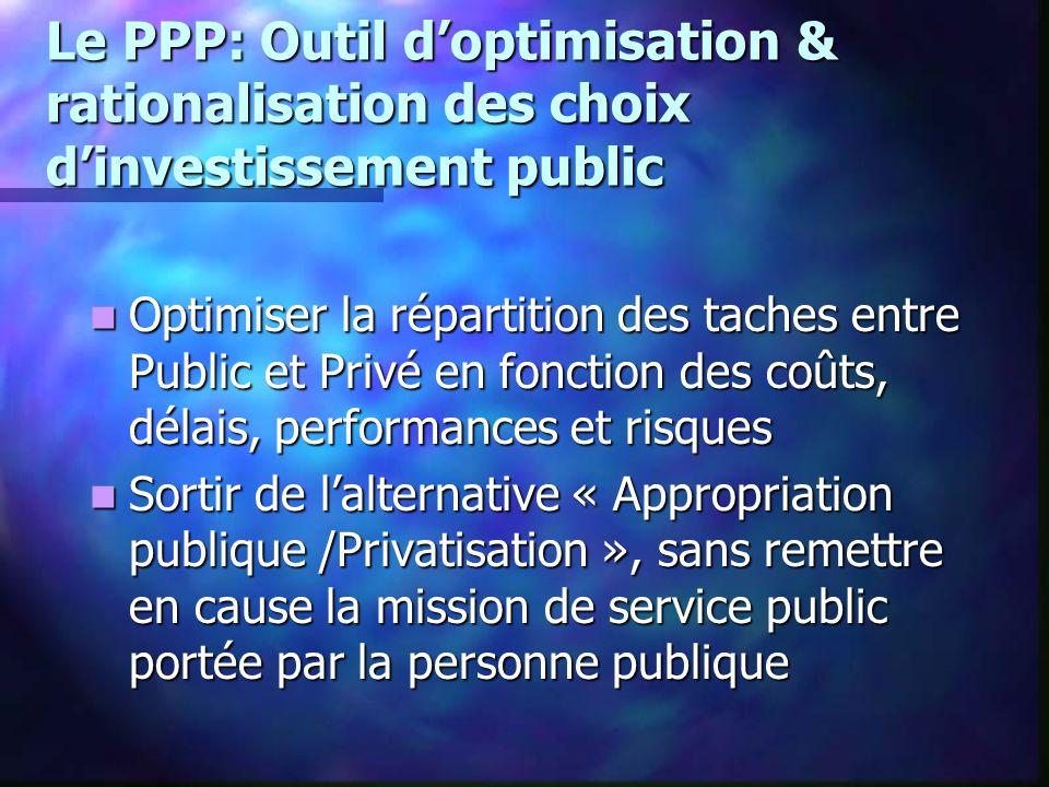 Le PPP: Outil d'optimisation & rationalisation des choix d'investissement public