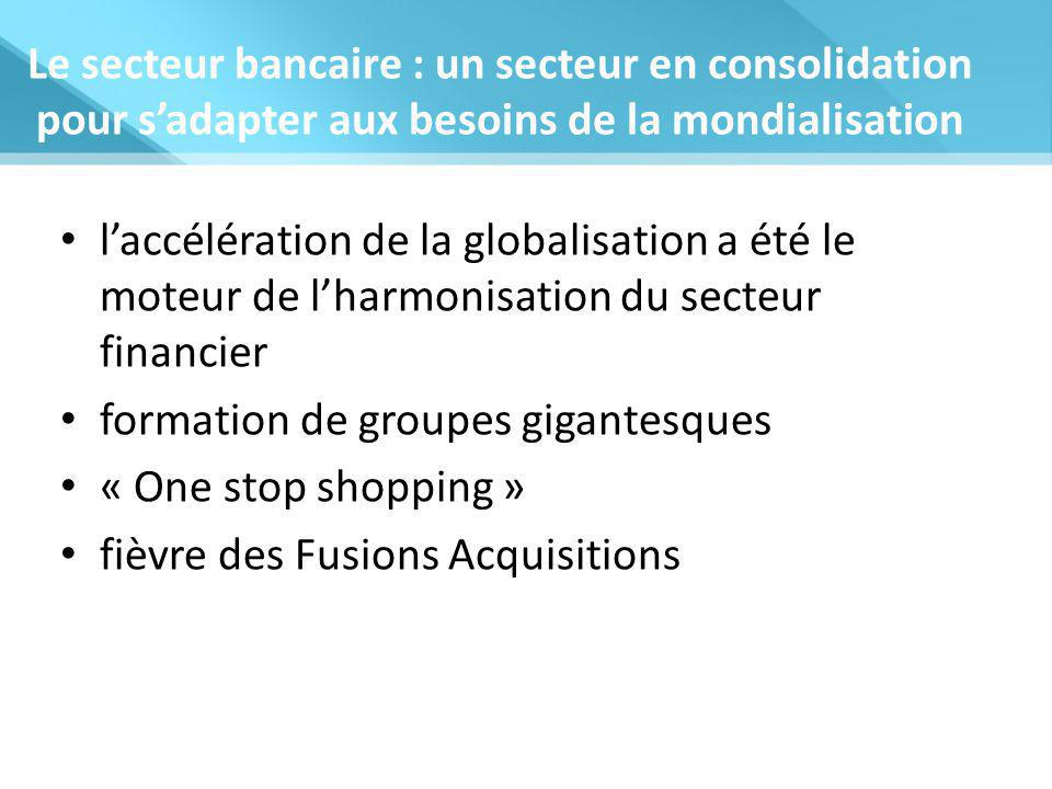 Le secteur bancaire : un secteur en consolidation pour s'adapter aux besoins de la mondialisation