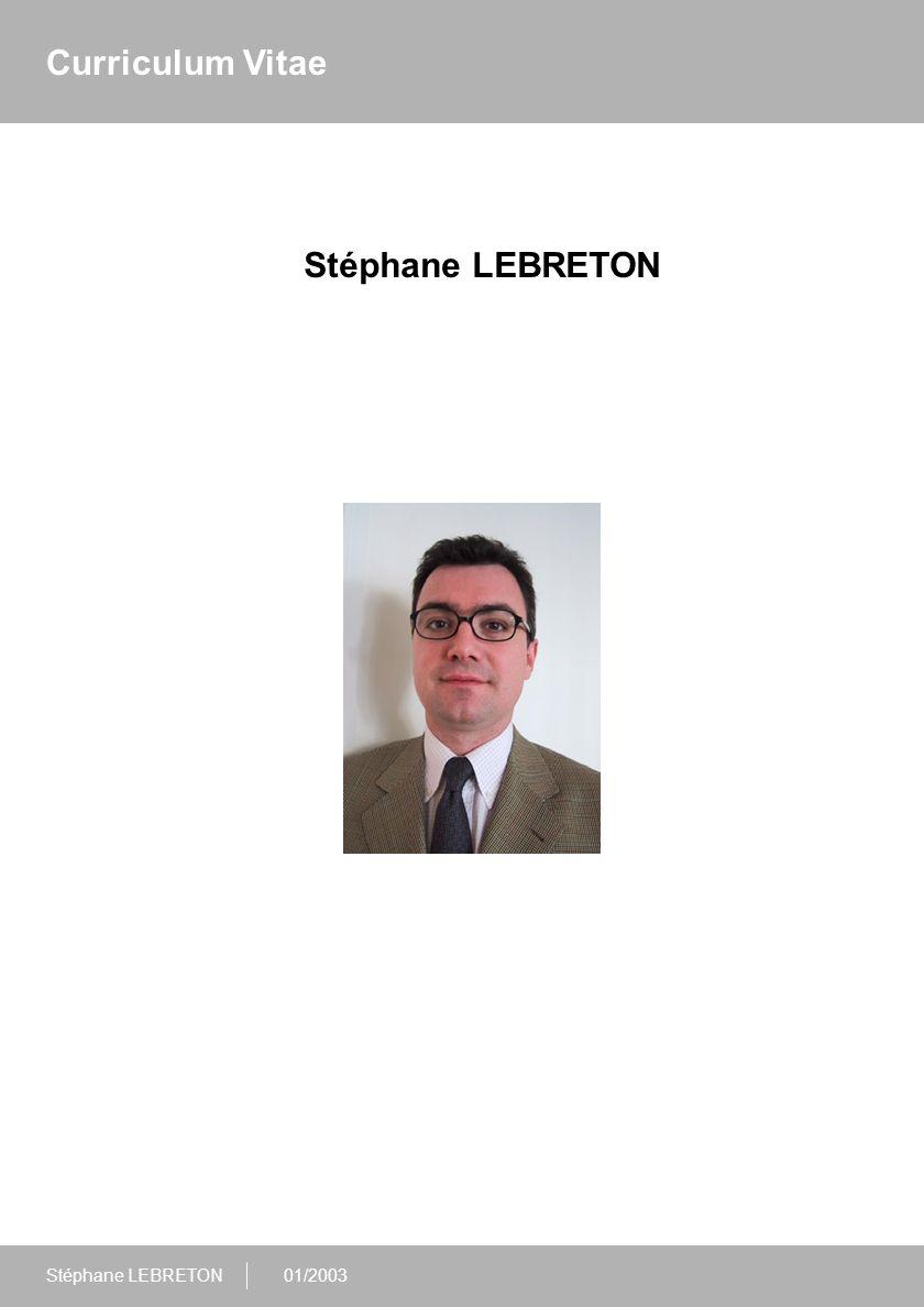 Curriculum Vitae Stéphane LEBRETON