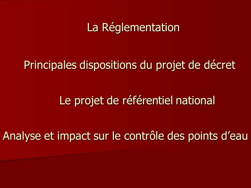 Principales dispositions du projet de décret