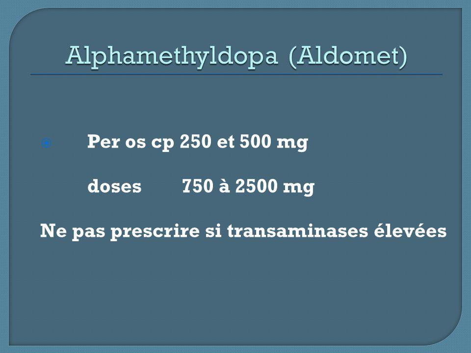 Alphamethyldopa (Aldomet)