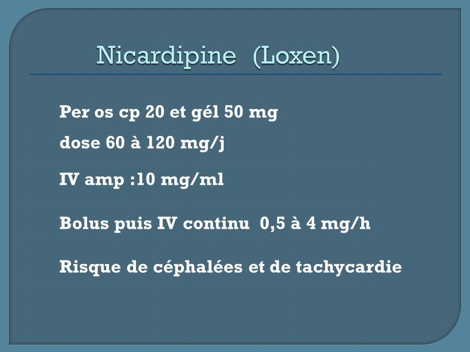 Nicardipine (Loxen)