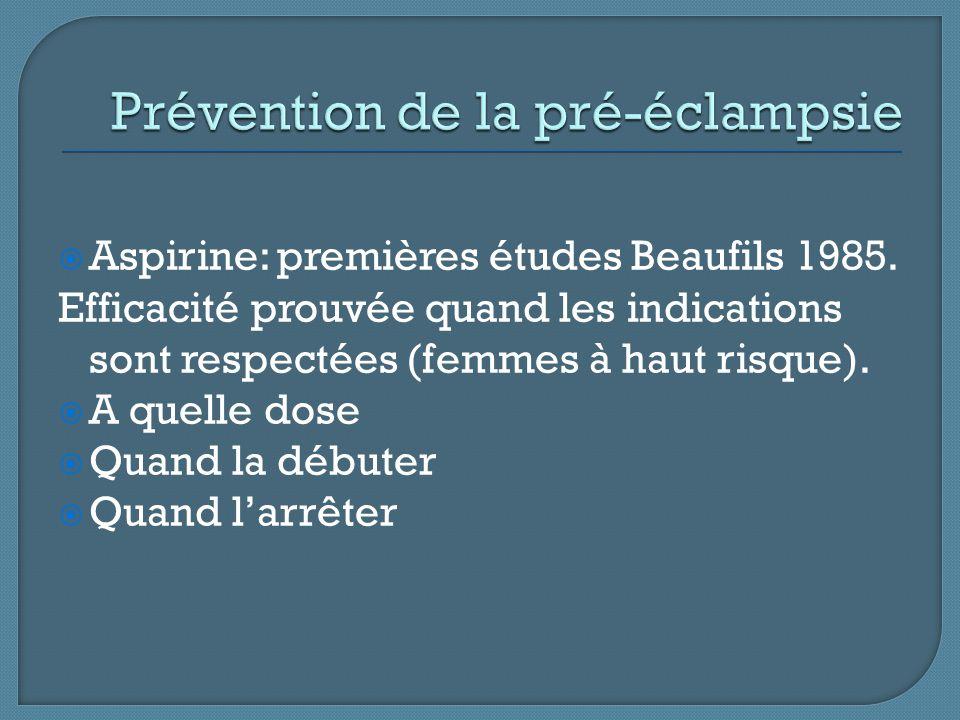 Prévention de la pré-éclampsie