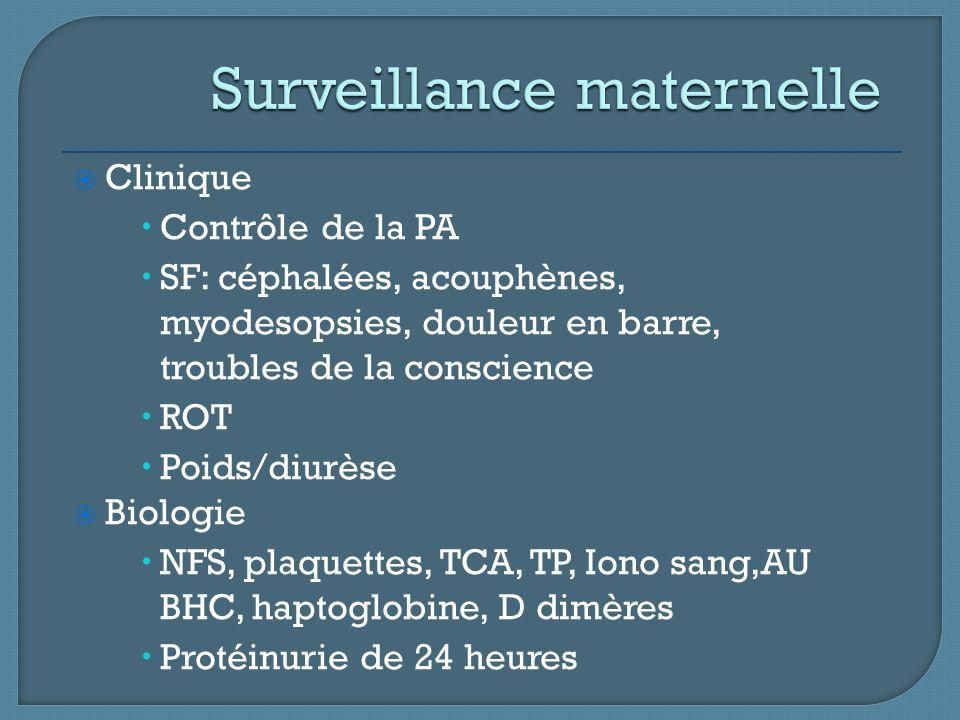 Surveillance maternelle