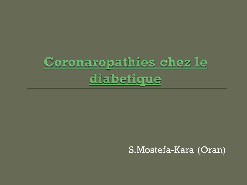 Coronaropathies chez le diabetique