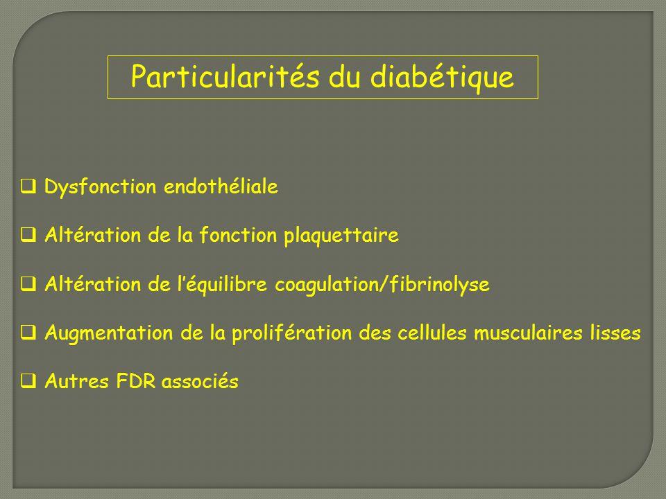 Particularités du diabétique