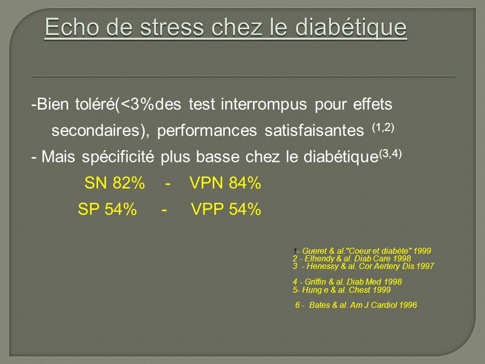 Echo de stress chez le diabétique