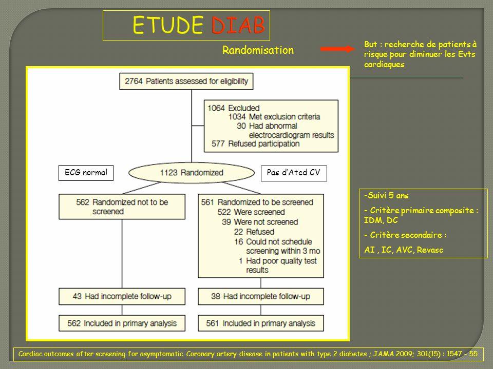 ETUDE DIAB Randomisation