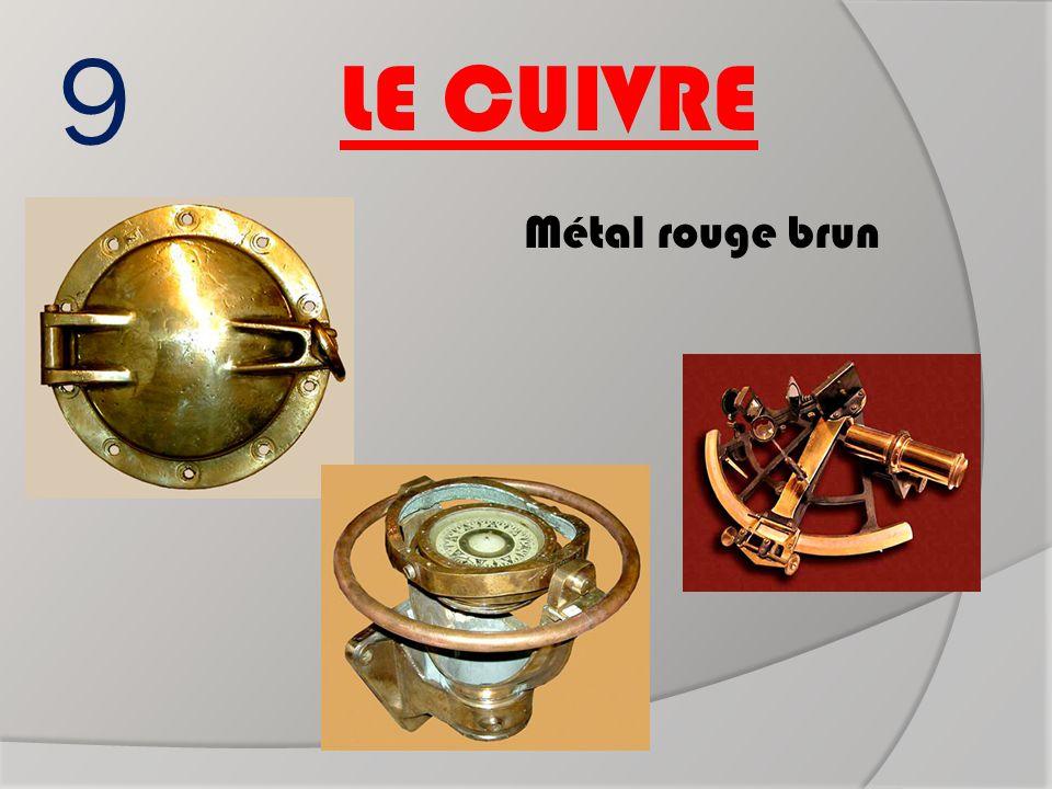 Boussole 9 LE CUIVRE Métal rouge brun Hublot sextant