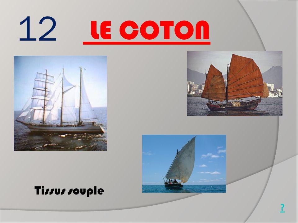 12 LE COTON Tissus souple Jonque chinoise Goélette (1850)