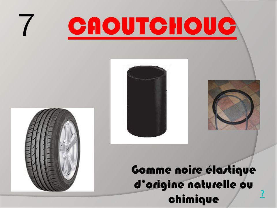 Gomme noire élastique d'origine naturelle ou chimique