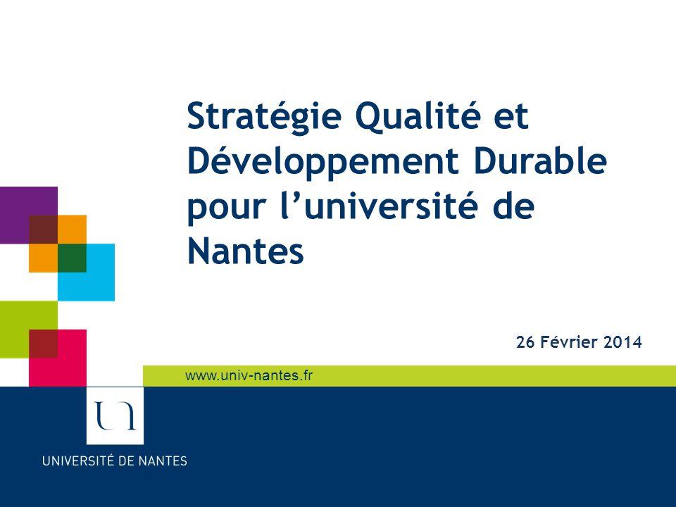 Sommaire Définitions. Qualité et Développement Durable pour l'Université de Nantes. L'existant. L'état des lieux dans le domaine de la Qualité.