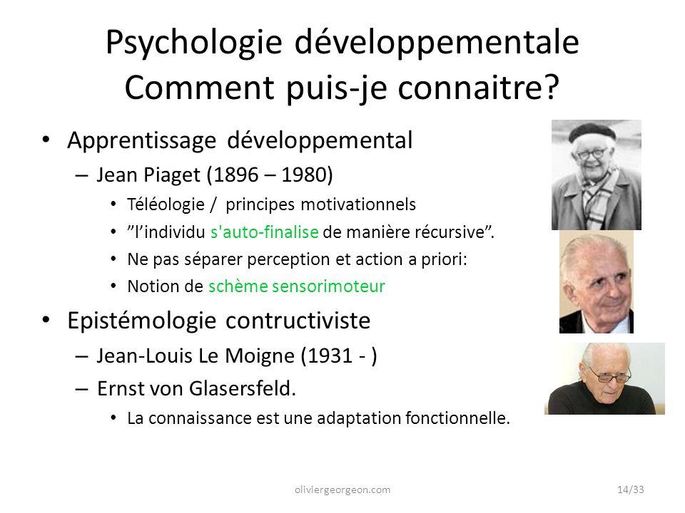 Psychologie développementale Comment puis-je connaitre