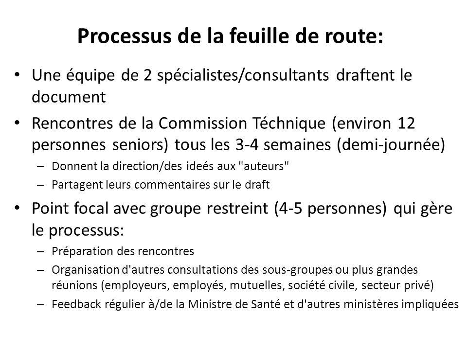 Processus de la feuille de route: