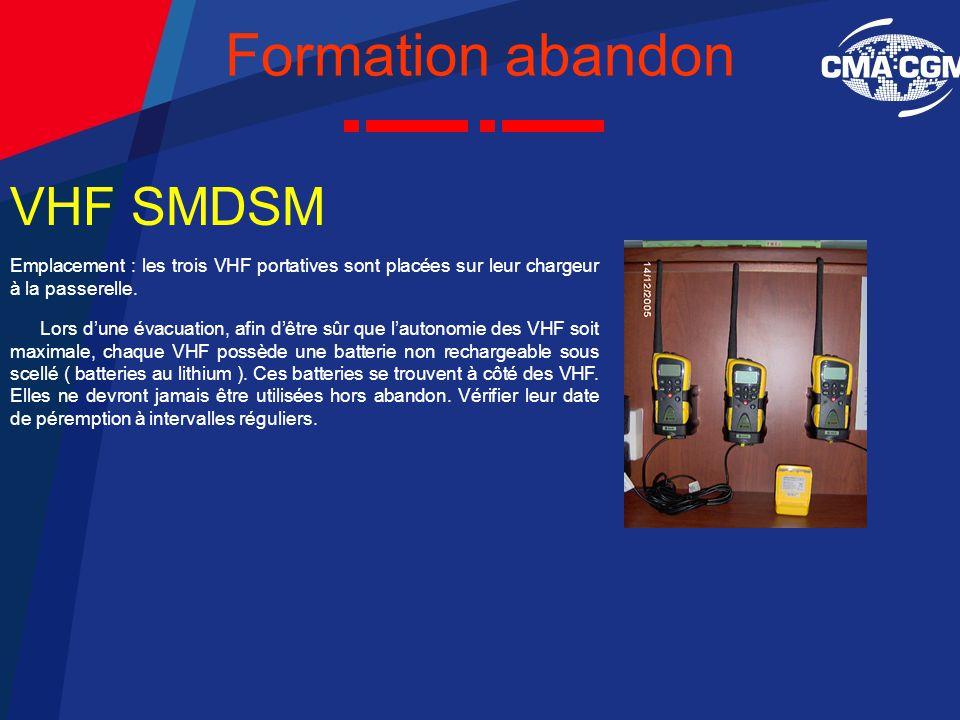 Formation abandon VHF SMDSM